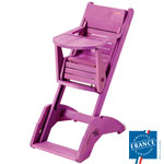 Chaise haute bébé multipositions twenty one lilas pas cher