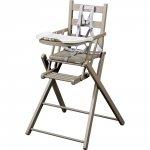 Chaise haute bébé extra-pliante gris