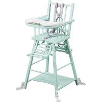Chaise haute bébé transformable vert mint