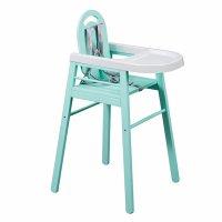 Chaise haute bébé lili vert mint