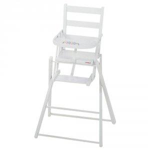 Chaise haute fixe extra-pliante blanc