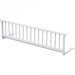 Barrière de lit laqué blanche