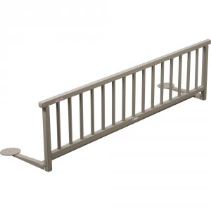 Barrière de lit pliante laqué gris