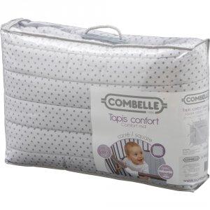 Tapis de parc bébé carré 98x92cm confort avec rebords étoiles