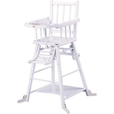 chaise haute b b transformable laque blanc de combelle chez naturab b. Black Bedroom Furniture Sets. Home Design Ideas