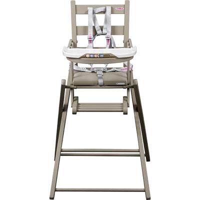 Chaise haute bébé extra-pliante gris Combelle