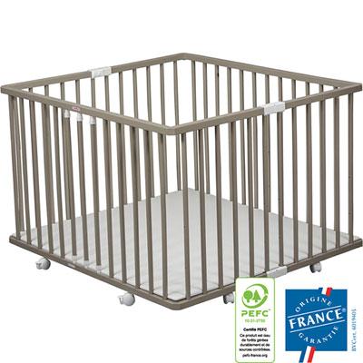 Parc pliant bébé à plancher gaby gris Combelle