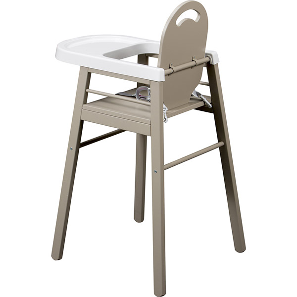 chaise haute b b lili gris 20 sur allob b. Black Bedroom Furniture Sets. Home Design Ideas