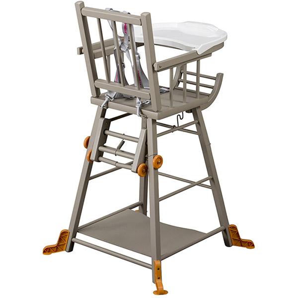 Chaise haute b b transformable gris de combelle chez for Chaise haute combelle transformable