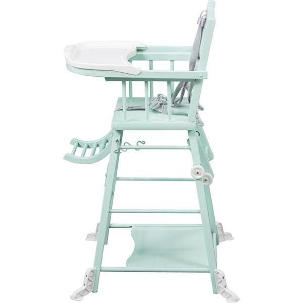 chaise haute b b transformable vert mint 25 sur allob b. Black Bedroom Furniture Sets. Home Design Ideas