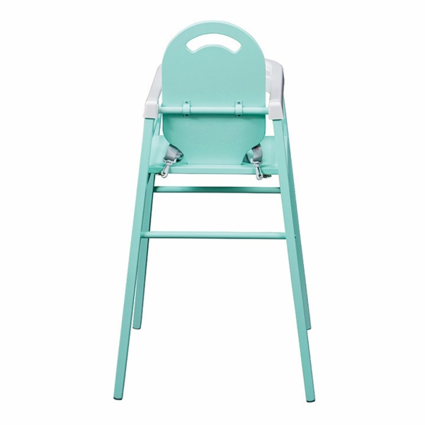 Chaise haute bébé lili vert mint Combelle