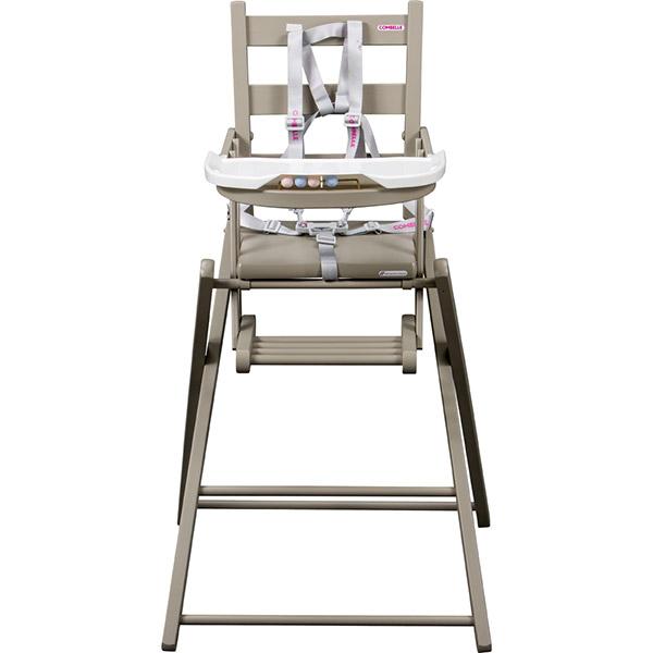 Chaise haute b b extra pliante gris de combelle en vente for Chaise haute combelle extra pliante