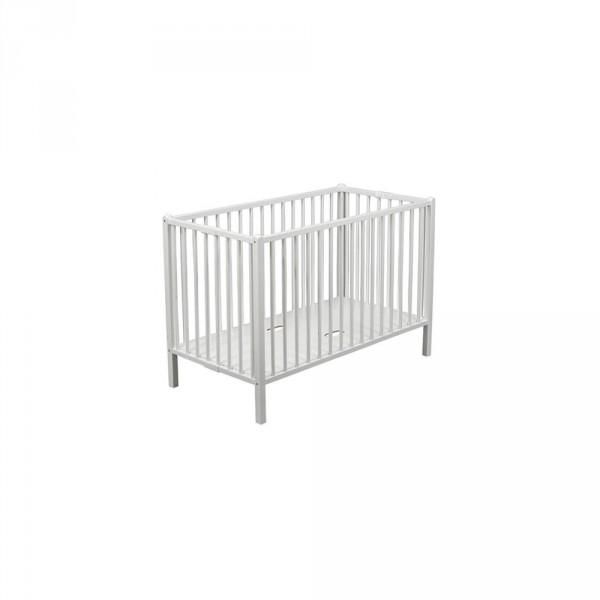 Lit bébé extra-pliant roméo laqué blanc 60 x 120 cm Combelle