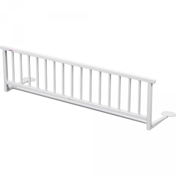 Barriere de lit pliante laqué blanche Combelle