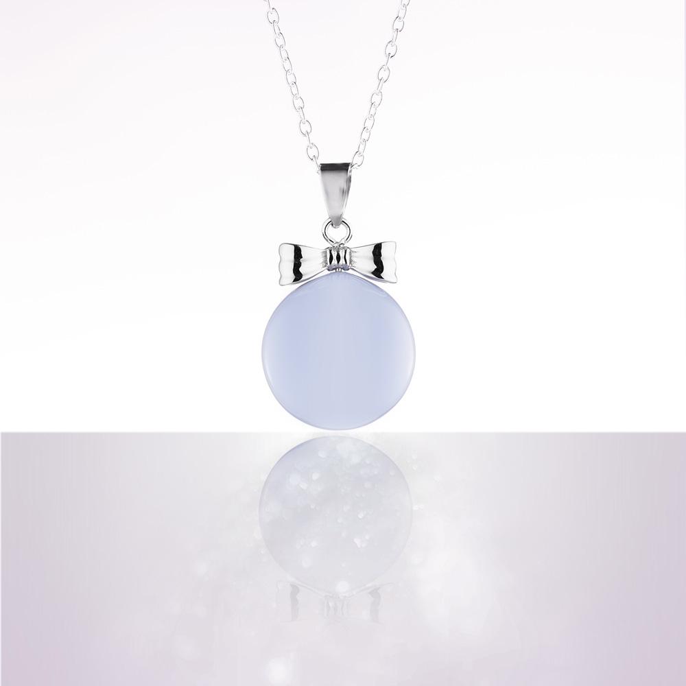 bola de grossesse email bleu noeud plaque rhodium avec cha ne argent 925 de cache coeur. Black Bedroom Furniture Sets. Home Design Ideas
