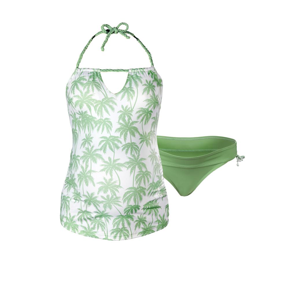 maillot de bain de grossesse tankini 2 pi ces bounty vert de cache coeur sur allob b. Black Bedroom Furniture Sets. Home Design Ideas