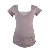Tee-shirt pyjama de maternité et d'allaitement joy parme