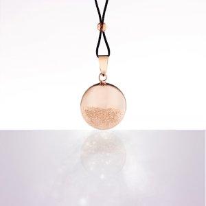 Bola de grossesse sphère or rose avec cordon noir