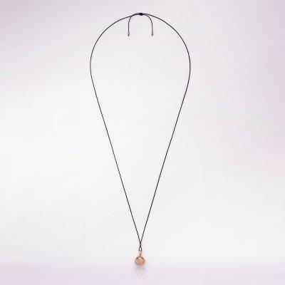 Bola de grossesse sphère or rose avec cordon noir Cache coeur