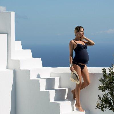 Maillot de bain de maternité tankini 2 pièces portofino marine Cache coeur
