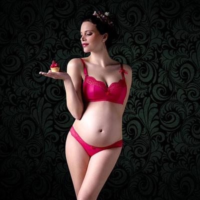 Culotte de maternité lollypop grenadine Cache coeur