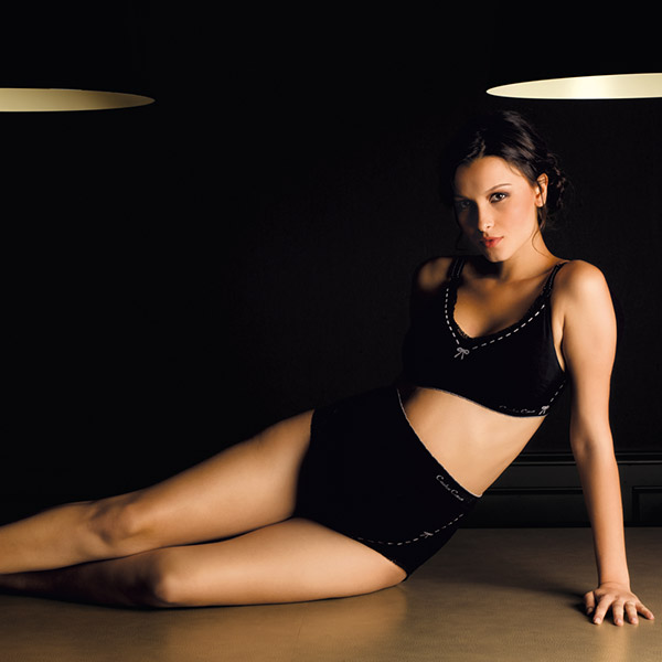Maxi culotte illusion noir Cache coeur