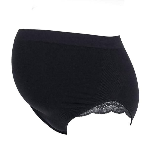 Maxi culotte de grossesse serenity noir Cache coeur