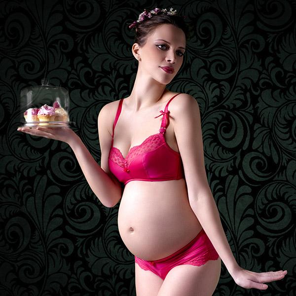 Soutien-gorge de grossesse et d'allaitement bonnet g ou h lollypop grenadine Cache coeur
