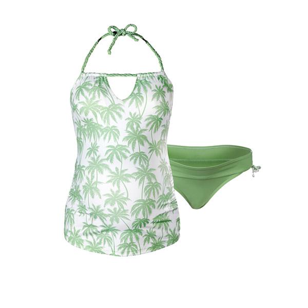 Maillot de bain de maternité tankini 2 pièces bounty vert Cache coeur