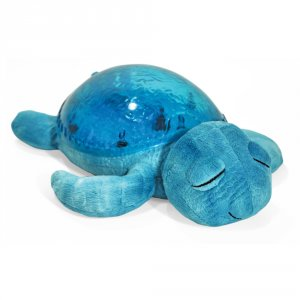 Veilleuse projection musicale tortue bleu