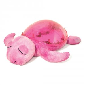 Veilleuse projection musicale tortue rose