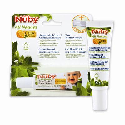 Gel nettoyant gencives et dents avec doigt de massage Nuby