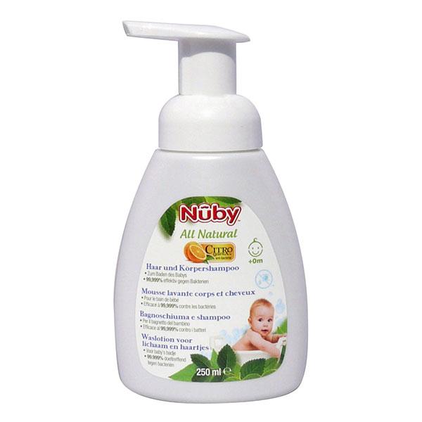 Mousse lavante corps cheveux 250ml Nuby
