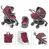Pack poussette trio love 2016 bordeaux Chicco