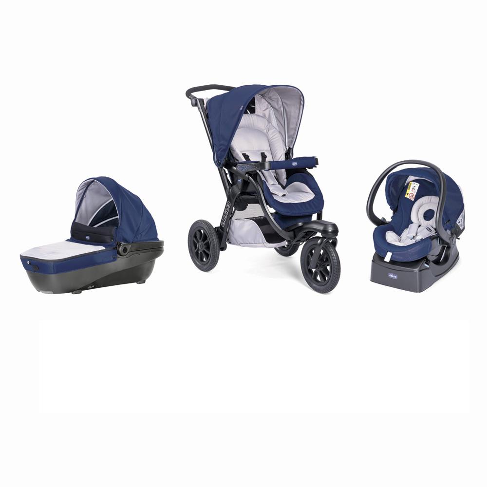 pack poussette trio activ3 top blue passion de chicco sur. Black Bedroom Furniture Sets. Home Design Ideas
