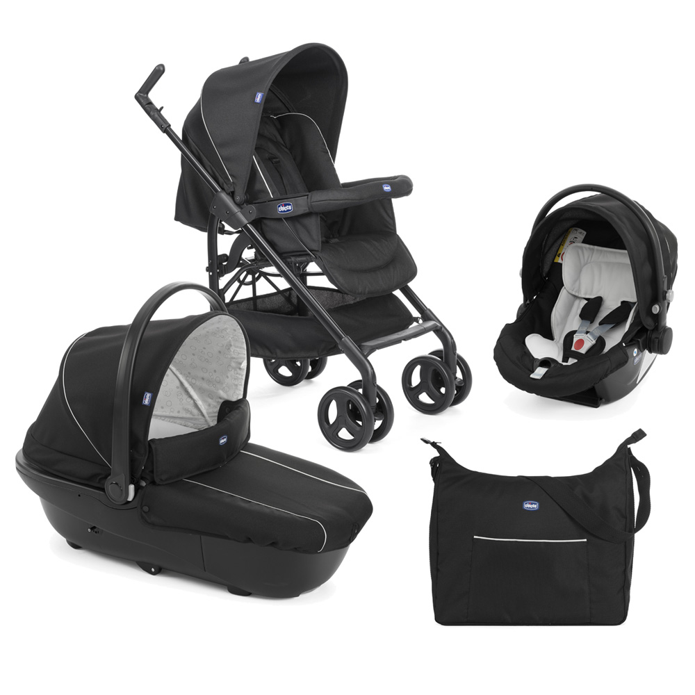 Poussette trio sprint black de Chicco au