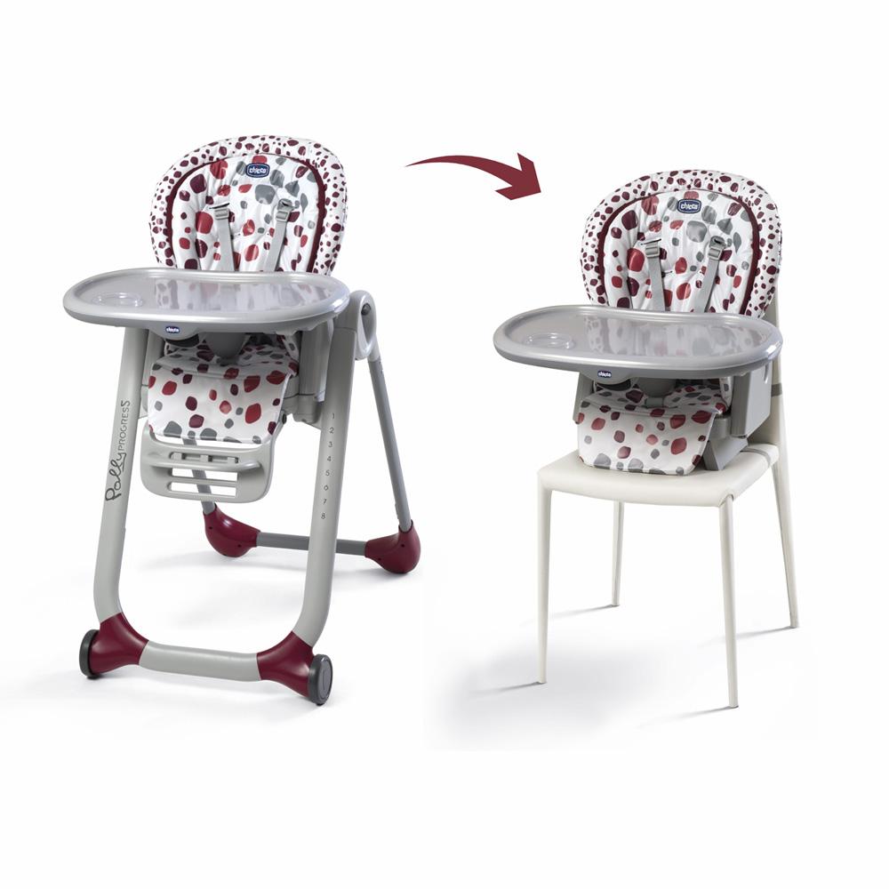 chaise haute b 233 b 233 polly progres5 cherry de chicco chez naturab 233 b 233