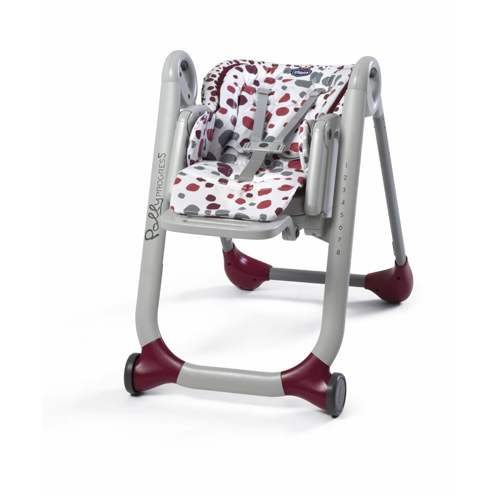 chaise haute b b polly progres5 cherry de chicco chez naturab b. Black Bedroom Furniture Sets. Home Design Ideas