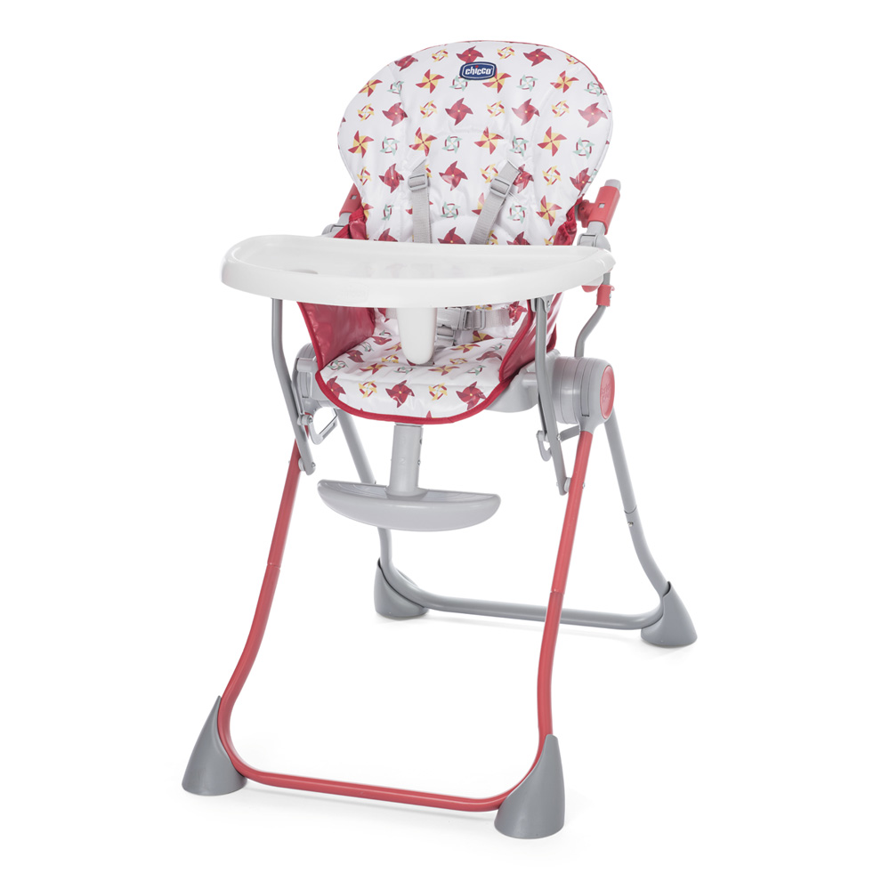 Chaise haute b b pocket meal red de chicco sur allob b for Chaise haute bebe