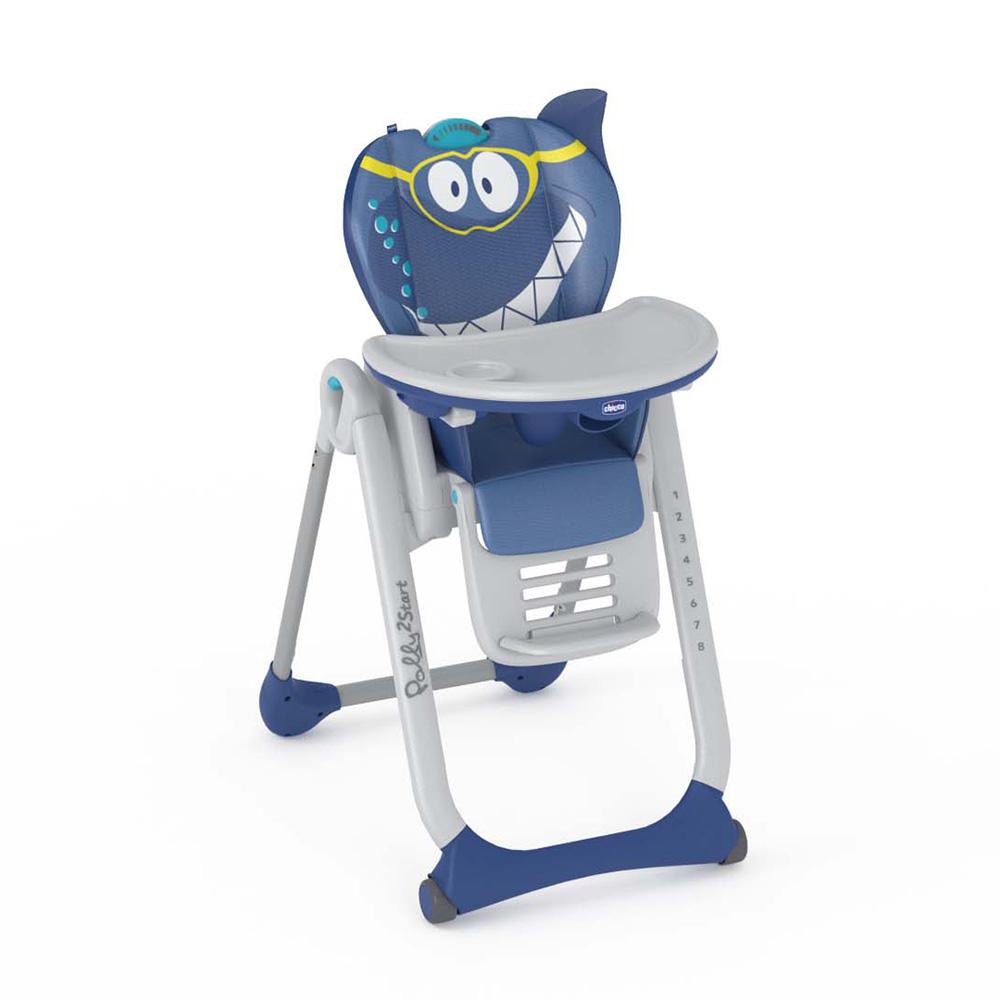 chaise haute b b polly 2 start shark 25 sur allob b. Black Bedroom Furniture Sets. Home Design Ideas