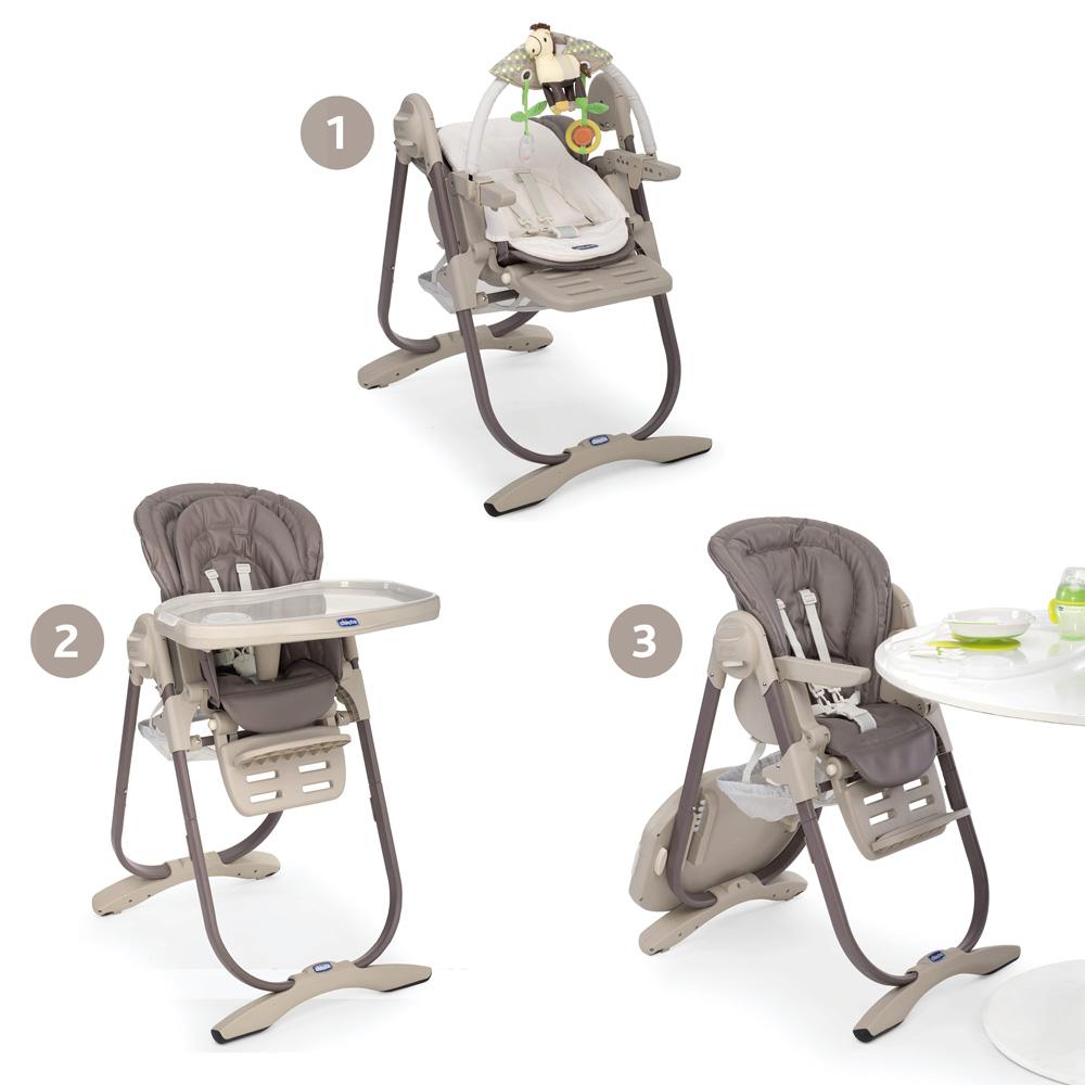 chaise haute b b polly magic cocoa 30 sur allob b. Black Bedroom Furniture Sets. Home Design Ideas