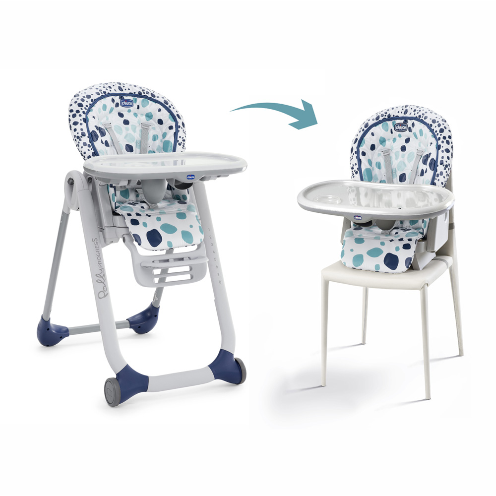 chaise haute b b polly progres5 iceberg de chicco chez naturab b. Black Bedroom Furniture Sets. Home Design Ideas