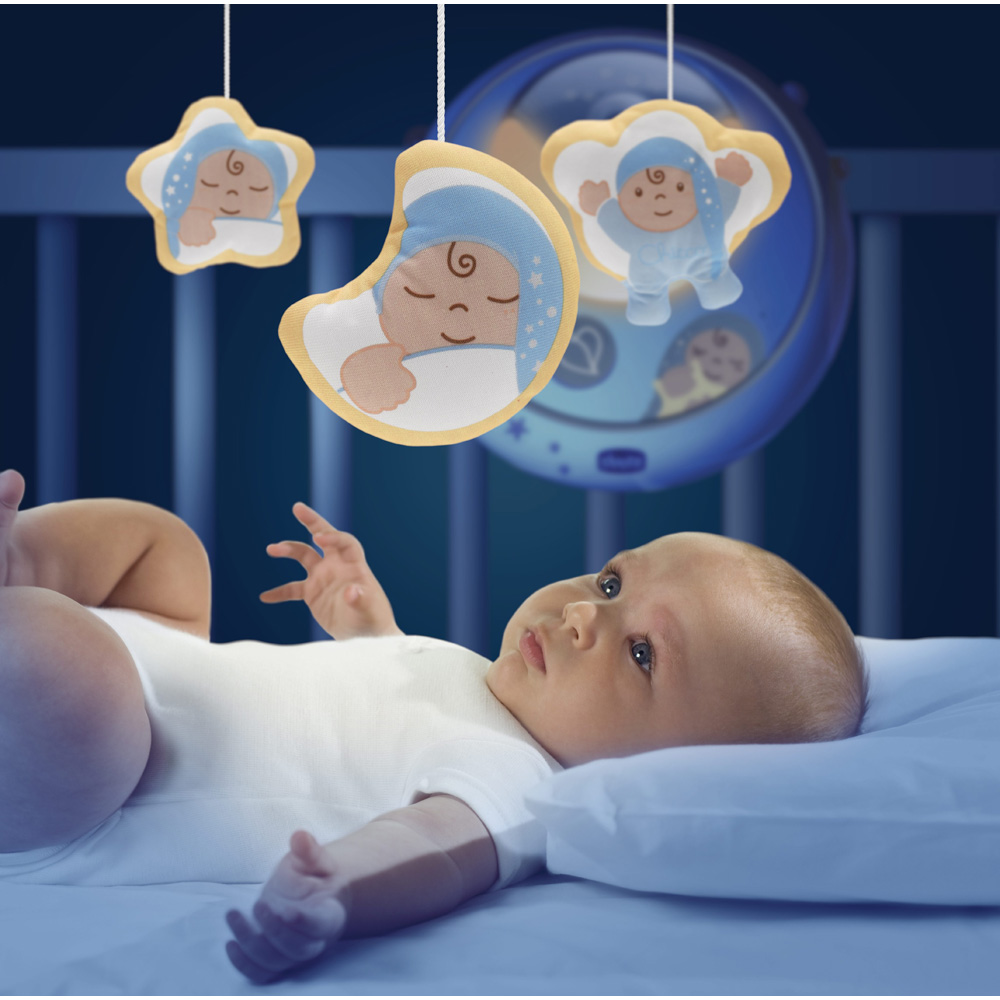 Mobile b b double projection bleu first dreams de chicco - Mobile bebe lumineux plafond ...