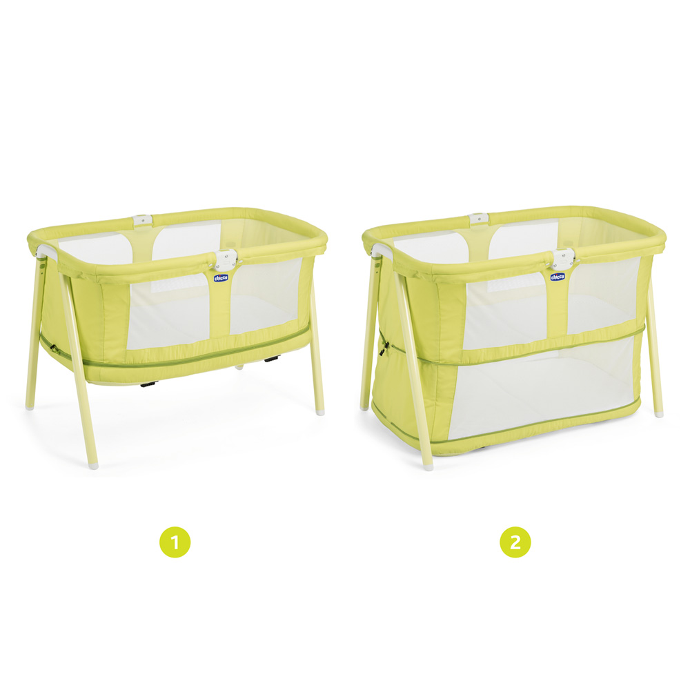 Collection Berceau Bébé : Berceau bébé lullago zip lemon drop de chicco sur allobébé