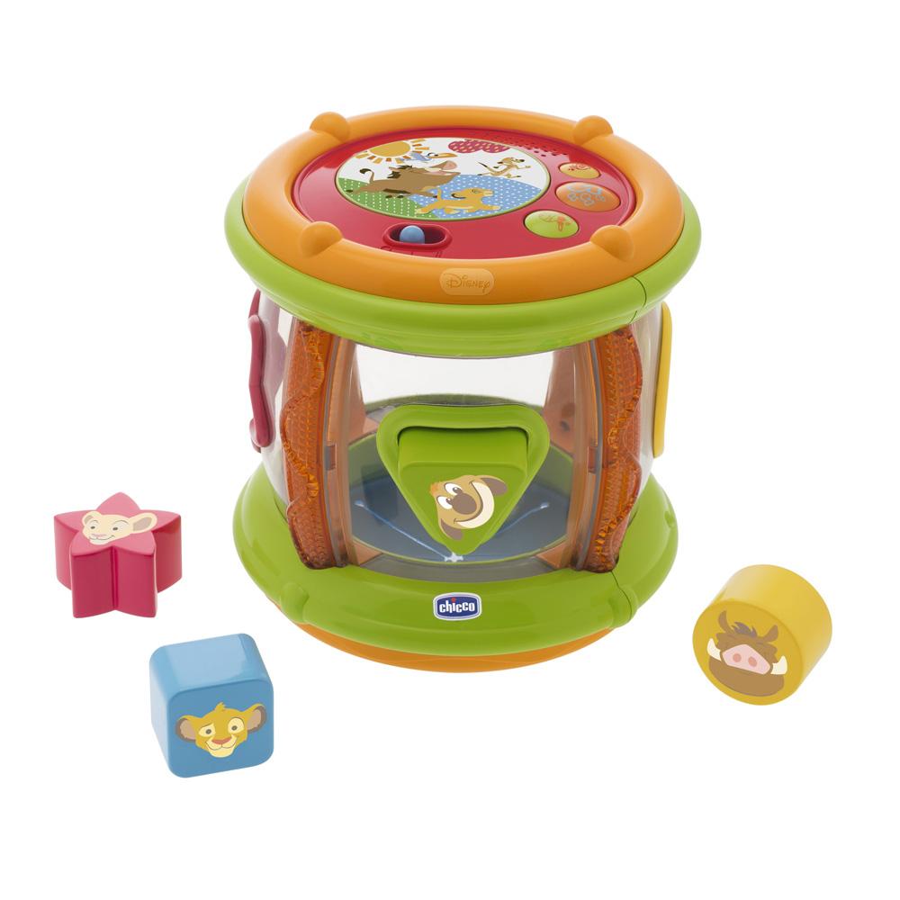 jouet d 39 veil b b tambour formes roi lion de chicco. Black Bedroom Furniture Sets. Home Design Ideas
