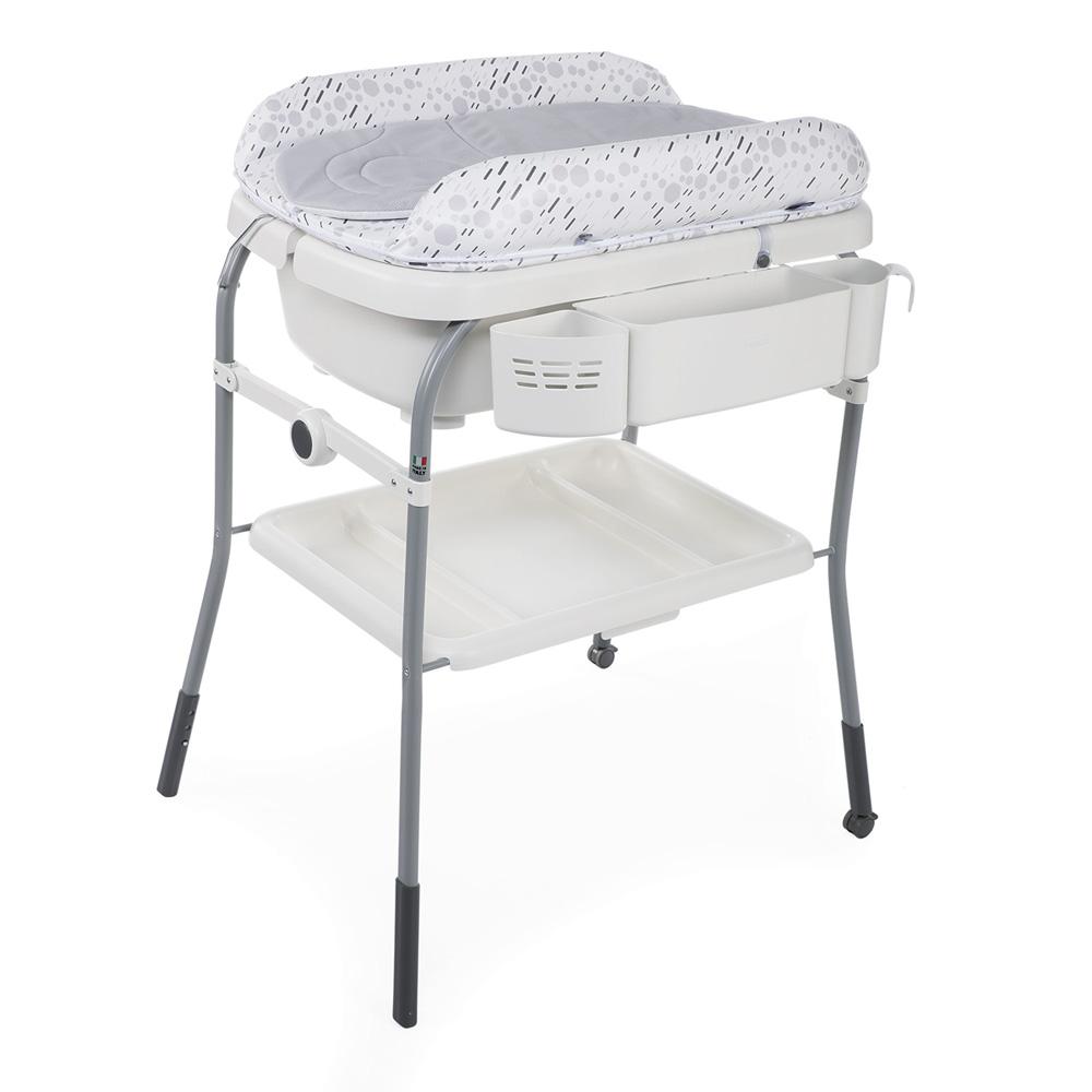 Table langer avec baignoire cuddle bubble cool grey de - Table a langer en bois avec baignoire ...