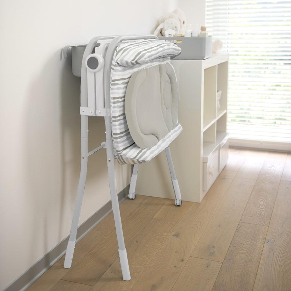 Table langer avec la baignoire cuddle bubble comfort silver 25 sur allob b - Combi table a langer baignoire ...