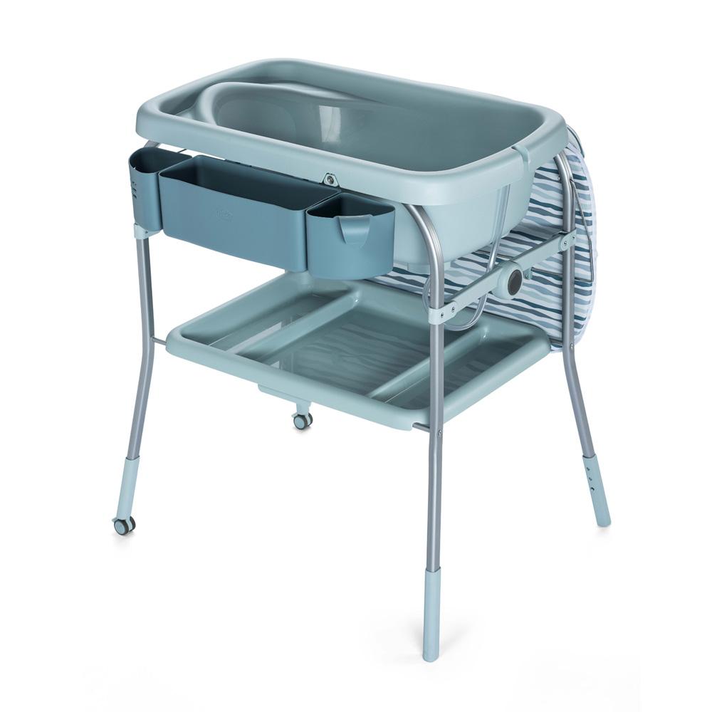 Table langer avec la baignoire cuddle bubble comfort - Table a langer en bois avec baignoire ...