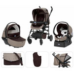 Poussette combiné trio living smart brownie de Chicco