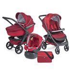 Pack poussette trio stylego red passion